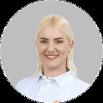Maja Busic Zakovsek, Verwaltungsmitarbeiterin Gesundheitszentrum Dr. Dr. Tadzic