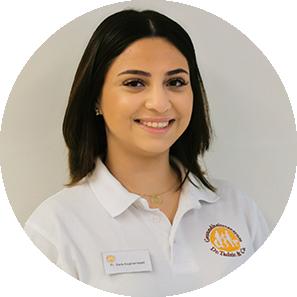 Sara Asghamejad, Duale Studentin Gesundheitsmanagement Gesundheitszentrum Dr. Dr. Tadzic